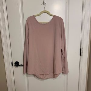 Pink open back long sleeve